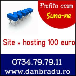 Site si hosting la numai 100 euro